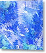 Blue Twirl Abstract Metal Print