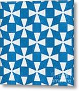 Blue Twirl Metal Print