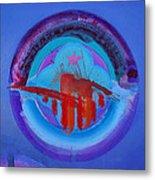 Blue Untitled Image Metal Print