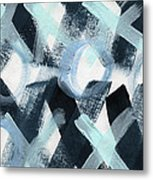 Blue Valentine- Abstract Painting Metal Print