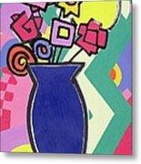 Blue Vase Metal Print by Bodel Rikys