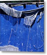 Blue Wall Metal Print