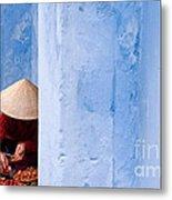 Blue Wall Hawker 01 Metal Print