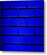 Blue Wall Metal Print