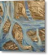 Blue Water Dancing  Metal Print