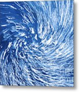 Blue Water Twister Abstract Metal Print