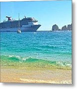 Blue Waters Of Cabo Metal Print