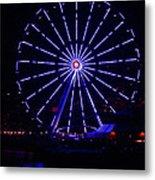Blue Wheel Of Fortune Metal Print