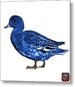 Blue Wigeon Art - 7415 - Wb Metal Print