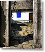 Blue Window  Metal Print