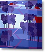 Blue Winter Farms Metal Print