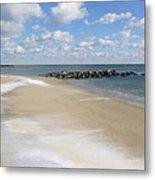 Blue Winter Sea And Sky Metal Print