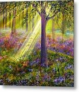 Bluebell Woods Metal Print by Ann Marie Bone