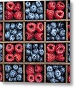 Blueberries And Raspberries  Metal Print by Tim Gainey