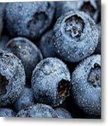 Blueberries Fruits Metal Print