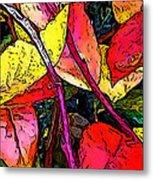 Blueberry Autumn Leaves Metal Print