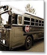 Bluebird Bus Limo 3 Metal Print