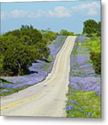 Bluebonnet Highway 2am-28667 Metal Print