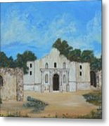 Bluebonnets At The Alamo Metal Print