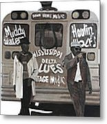 Blues Bus Metal Print