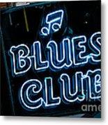 Blues Club On Bourbon Street Nola  Metal Print