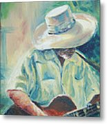 Blues Man Metal Print by Sharon Sorrels
