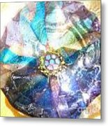 Blues Mandala Bowl Metal Print