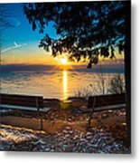 Bluff  Benches Metal Print