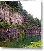 Bluffs Near Marina Norris Dam State Park Metal Print