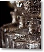Blurred Bottles Metal Print by Mamie Thornbrue