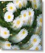 Blurred Daisies Metal Print