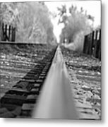 Blurred Track Metal Print