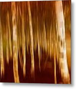 Blurred Trees Metal Print