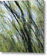 Blurred Trees Metal Print