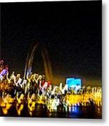 Blurry Waterfront 2 Metal Print