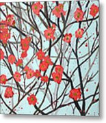Blushing Blossoms Metal Print