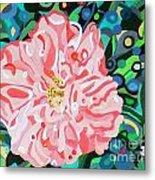 Blushing Camellia Metal Print