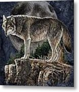 Bm Wolf Moon Metal Print