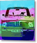 Bmw 2002 Front Watercolor 1 Metal Print