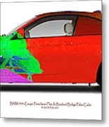Bmw 335i Coupe Frenchman Flat Hot Colors Nts Metal Print
