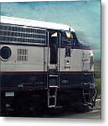 Bn F9 Train Engine Textured Metal Print