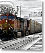 Bnsf Train Metal Print