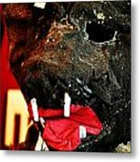 Boar Mask Metal Print