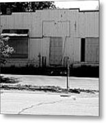 Boarded Up - Black And White Metal Print