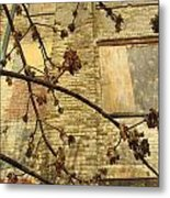 Boarded Windows And Branches Metal Print