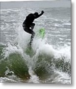 Boardskimming - Into The Surf Metal Print
