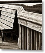 Boardwalk Bench Metal Print