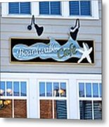 Boardwalk Cafe Metal Print