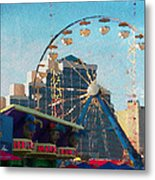 Boardwalk Ferris  Metal Print