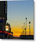 Boardwalk House Of Blues At Sunrise Metal Print